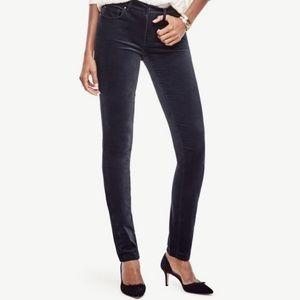 Ann Taylor Black Velvet Skinny Jeans Pants